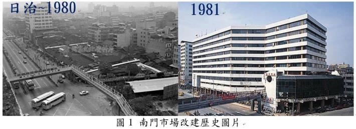 圖1 南門市場改建歷史圖片
