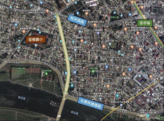 圖2 中正橋引道重慶南路高架橋拆除前現況地貌圖