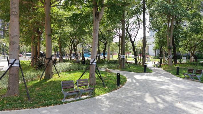 圖7美崙公園外部空間整合完工照片