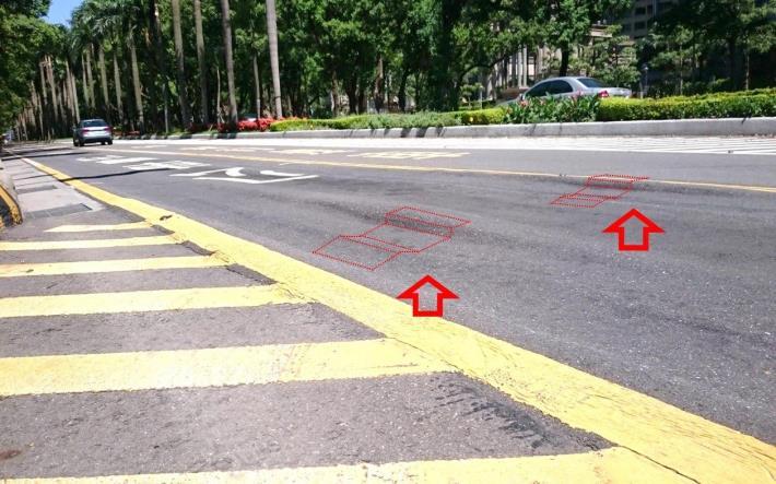 圖3 公車專用道車轍照片