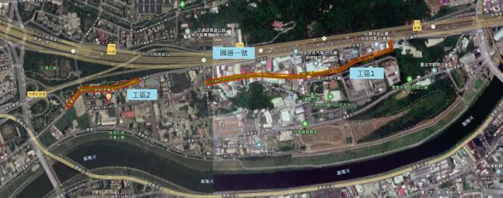 圖2 安康路路面更新範圍周邊地貌圖