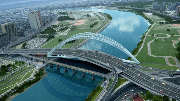 圖2. 中正橋改建工程完工模擬圖