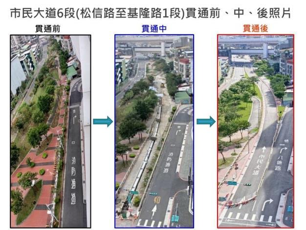 圖2-貫通前、中、後現場照片