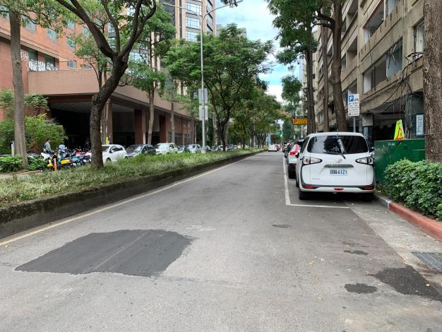 圖2 慶城街(民生東路3段至南京東路3段)施工前照片1
