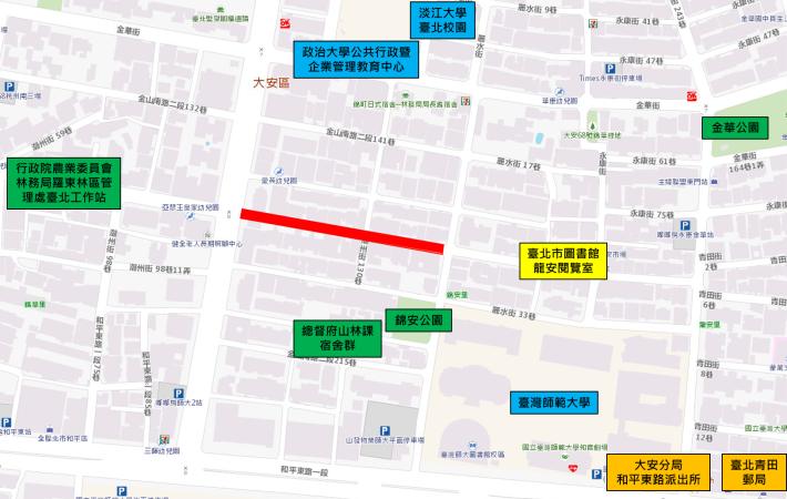 圖1、潮州街更新範圍