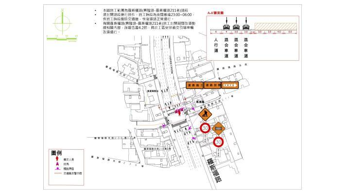 圖7第三階段交通維持佈設平面圖(道路封閉施工)-2