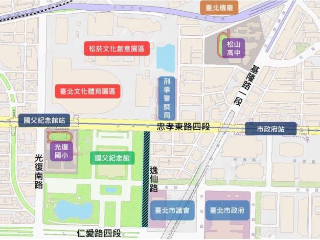 圖1逸仙路(忠孝東路4段至仁愛路4段)更新範圍圖.JPG