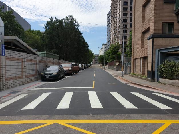 圖4、忠順街2段85巷道路施工後1