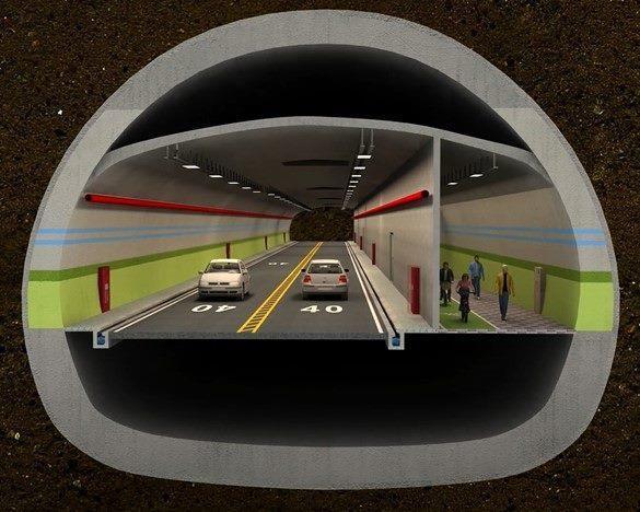 圖4隧道斷面示意圖
