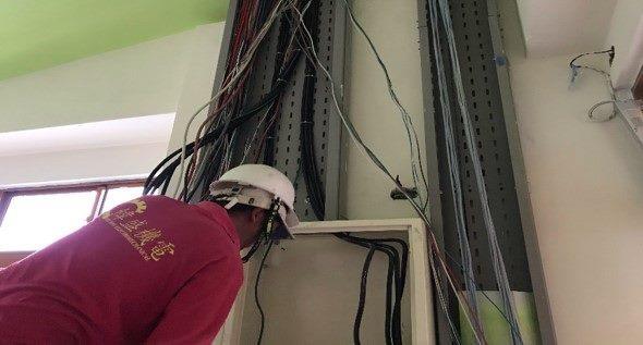 10809-北基地幼兒園1F電源線拉線施作