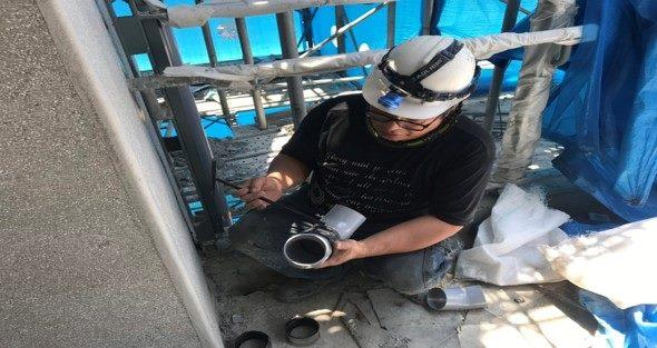 10807-北基地活動中心2F雨水管配管施作
