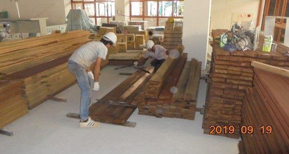 10809-北基地說故事平台木地板施作