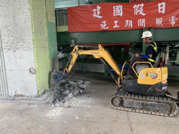 1080603-建國高架橋P47L開挖