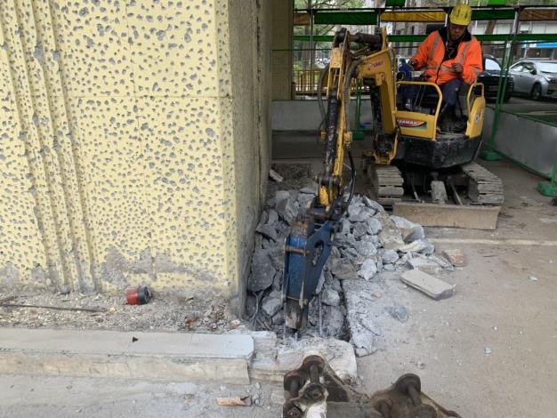 1080403-建國高架橋P46破碎開挖