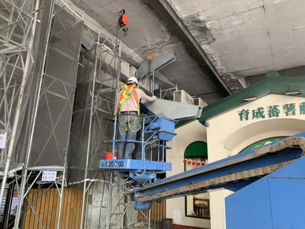 108年12月23日建國高P55托座吊裝