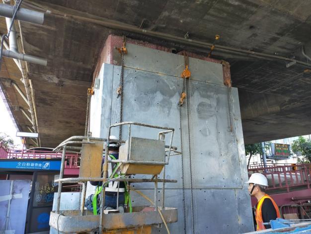 109年1月19日-建國高架橋鋼板安裝