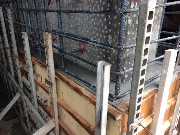 107年5月20日舊環南高架P63墩柱第一昇層210scc澆置
