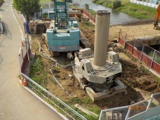 1080511-左岸全套管混凝土基樁P1-7,8,9,10,11,12施作-2