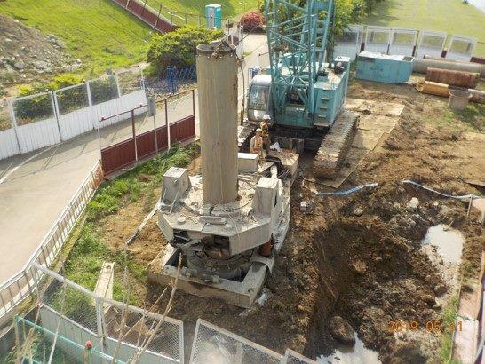 1080511-左岸全套管混凝土基樁P1-7,8,9,10,11,12施作-1