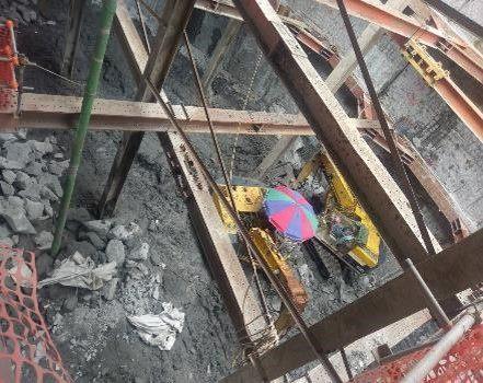 10811-地下四層扶壁破碎施作