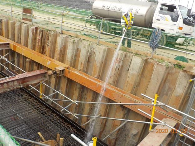 109年3月-X6R03頂板混凝土澆置前清洗