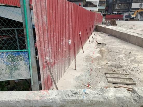 109.04 臺北市南港區經貿段公共住宅地下連續壁工程-東側新設排水溝放樣