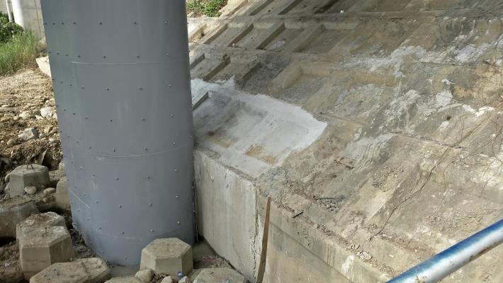 文和橋橋墩柱補強