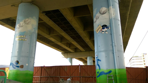 民權大橋墩柱彩繪(完工)