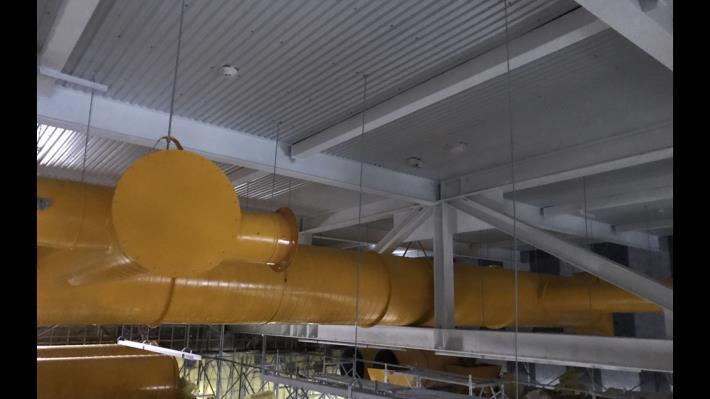 體育棟空調風管施作