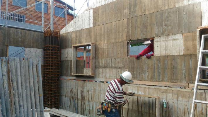 第二部分1樓牆模組立