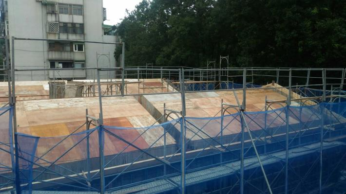 第二部分1樓梁模及屋頂模板施作