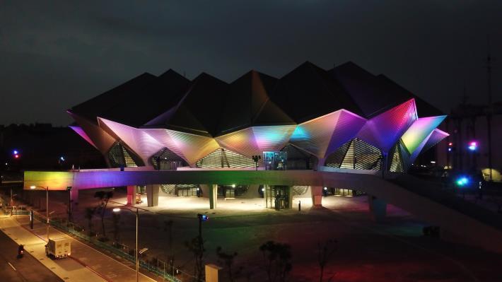 北部流行音樂中心工程(北基地)夜間景觀