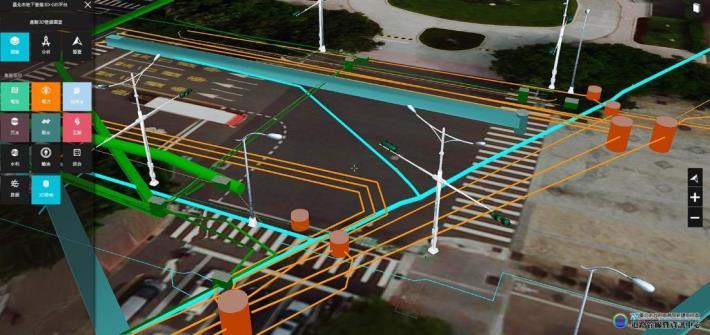 圖5 臺北市地下管線3D-GIS平台