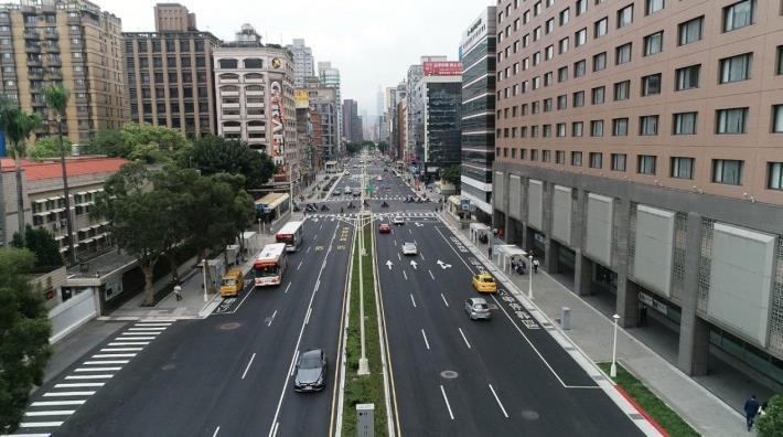 圖1.忠孝東路等東西軸線工程(第一標、第三標)完工照片