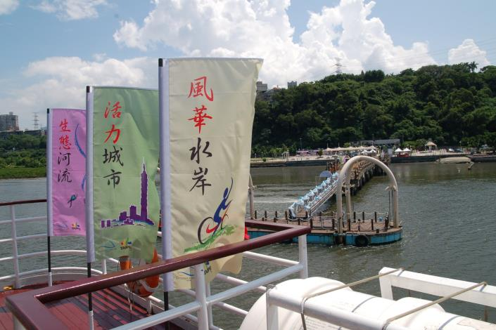 茶會會場-大河之戀皇后號遊艇(Venue of the reception - the Great River Queen.)