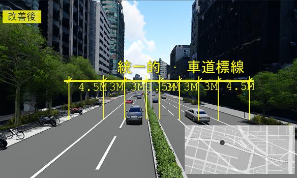 2019-05 忠孝東路人行環境改善工程3D實景模擬動畫[另開新視窗]