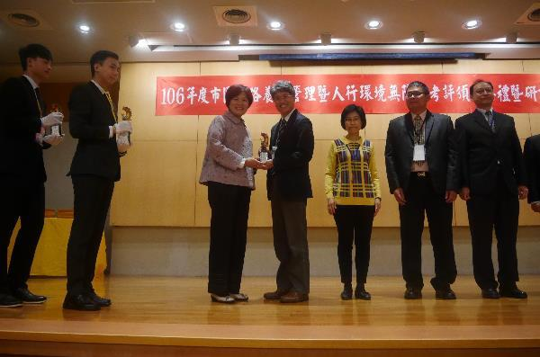 "Taipei City won first place in the ""2017 Urban road maintenance and sidewalk environment accessibility assessment"" by the Ministry of the Interior 5 consecutive times."