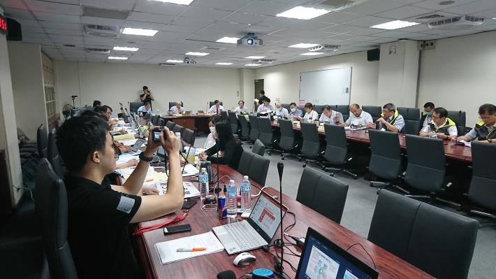 Taipei City Government members gave a presentation at the MOI for policy evaluation on August 18, 2020