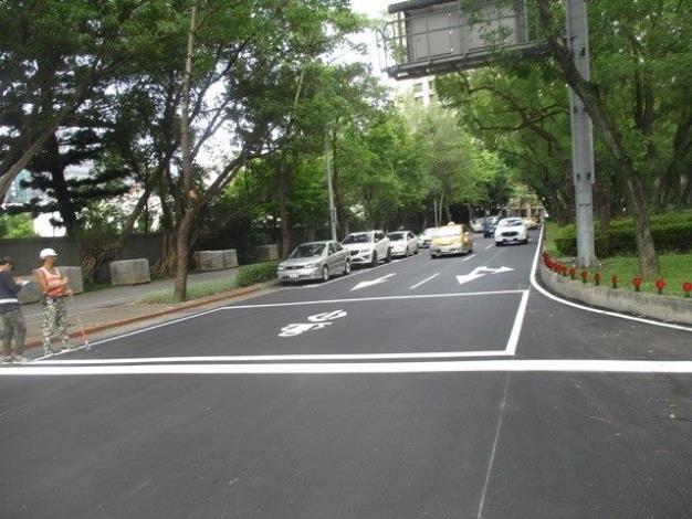 Figure 4. Evaluation of Renai Road pavement update in 2019