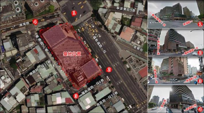 Image 2  Location of the construction site of the renovated Nanmen market