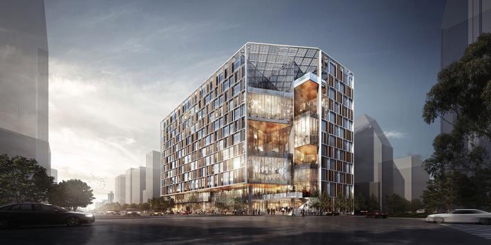 Fig.1 Gold candidate green building certification for Nanmen Market Buildin