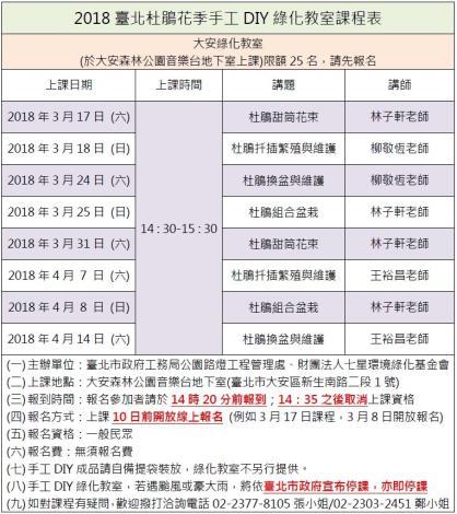 圖25. 2018臺北杜鵑花季手工DIY綠化教室課程