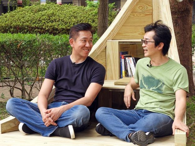 圖4. 魏德聖導演與楊奭凡設計師暢談設計理念