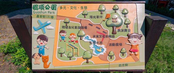 照片10.活潑可愛的公園導覽牌