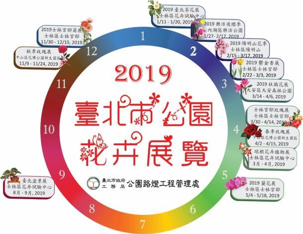 圖2.2019臺北市公園花卉展覽年曆。[另開新視窗]