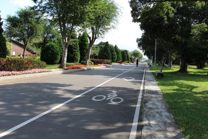 圖4、園區內的腳踏車步道
