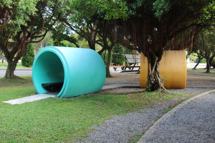 圖9、水管造型休憩區.JPG