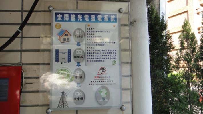 圖5、公廁屋頂太陽能光電系統,提供公廁所需電力