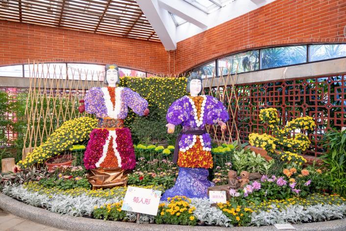圖3.高近2米的菊人形武士充分展現日本的「東瀛風緣 菊情濃濃」(攝自邱友文)