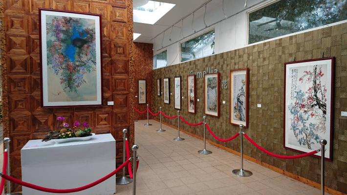 花卉中心展覽館的水墨花鳥巡迴展